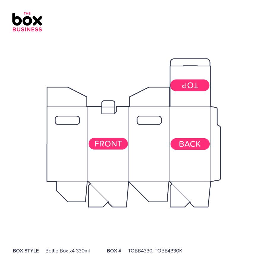 Bottle Box x4 330ml   Quality Cardboard Boxes   The Box