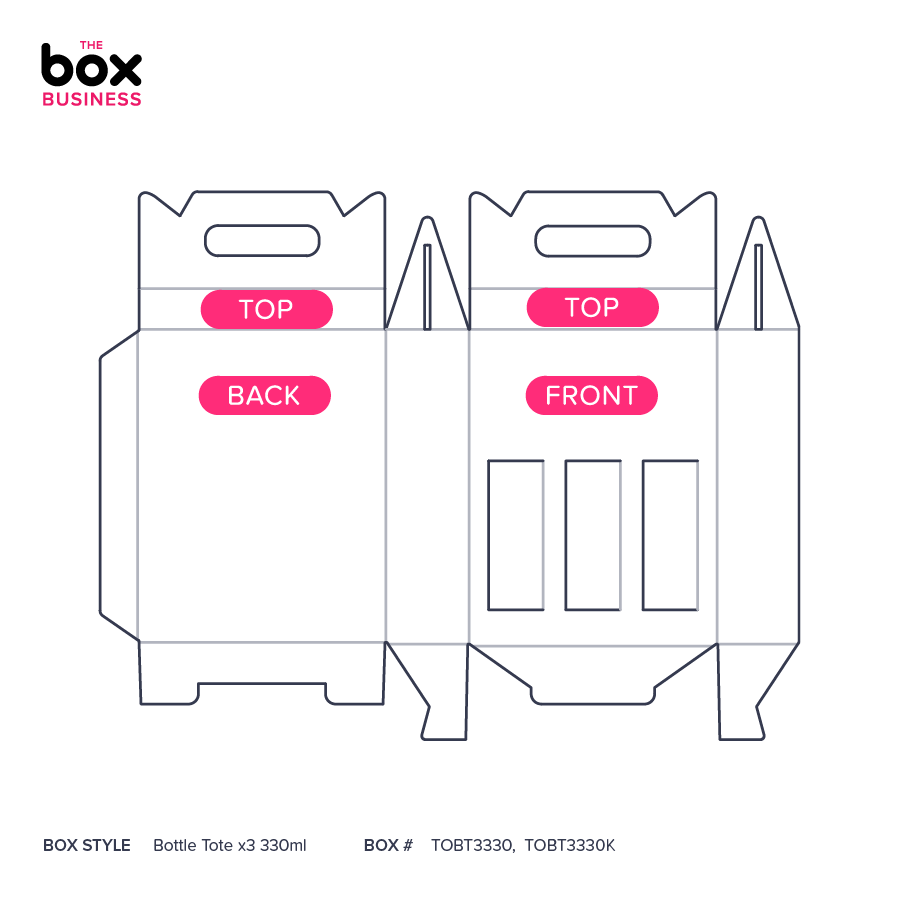 Bottle Tote x3 330ml   Quality Cardboard Boxes   The Box