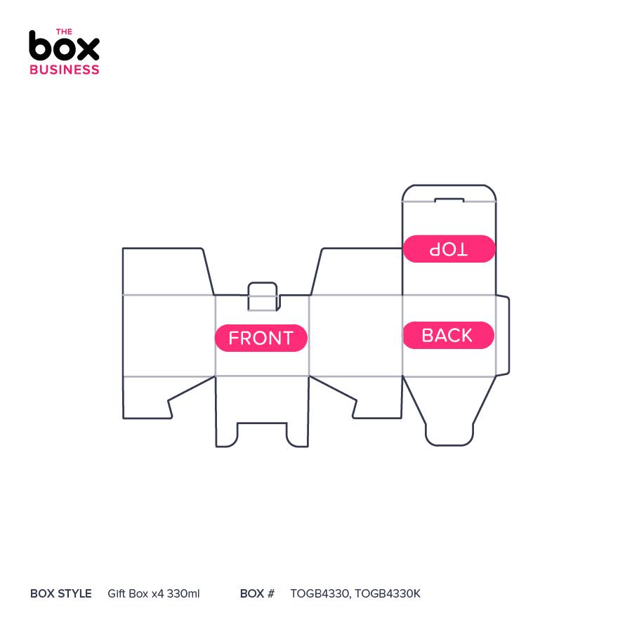Gift Box x4 330ml   High Quality Cardboard Boxes   The Box